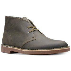 Clarks Men's Bushacre Oily Leather Chukka Boot 9.5
